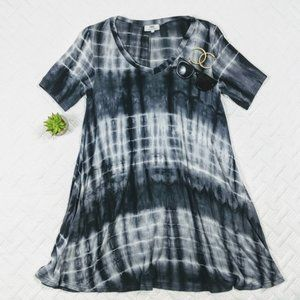 Piko Tie Dye Dress with Pockets Swingy